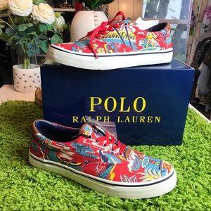 Polo Ralph Lauren Hawaiian Red Casual Sneakers